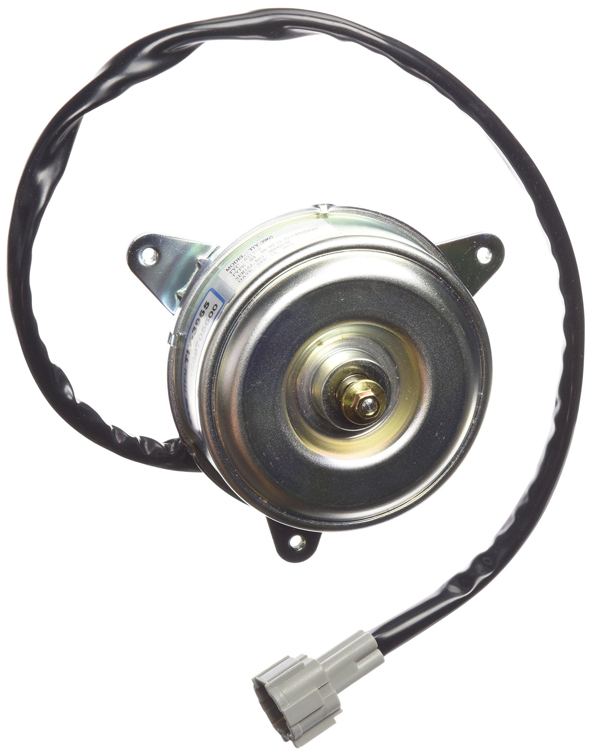 TYC 631210 Infiniti G-35 Replacement Radiator/Condenser Cooling Fan Motor