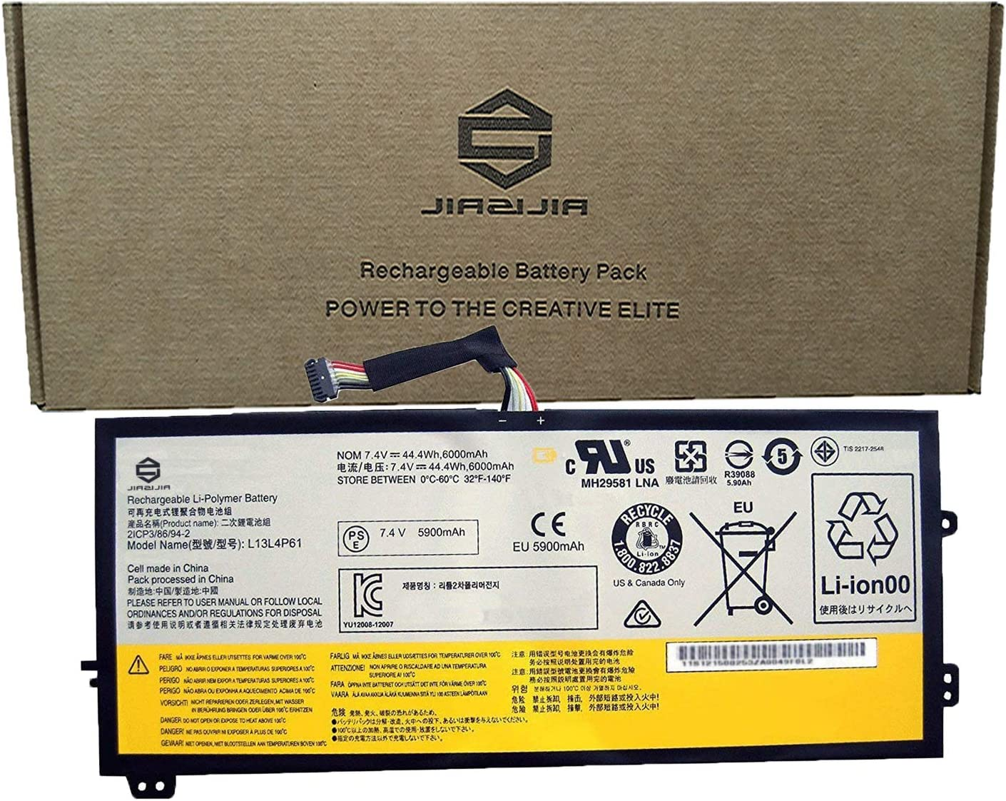 Amazon Com Jiazijia L13l4p61 Laptop Battery Replacement For Lenovo Thinkpad Edge 15 80h1 15 6 Inch Series Notebook L13m4p61 Black 7 4v 44 4wh 6000mah Computers Accessories