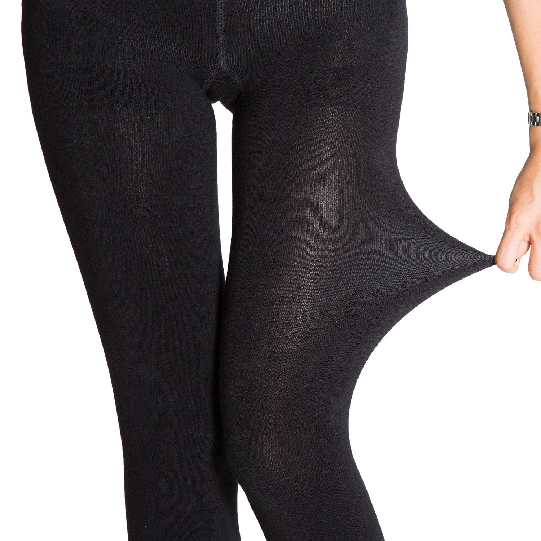 in caldo pile colore: nero da donna termiche 2 paia di calze collant termiche Manzi da 400/denari
