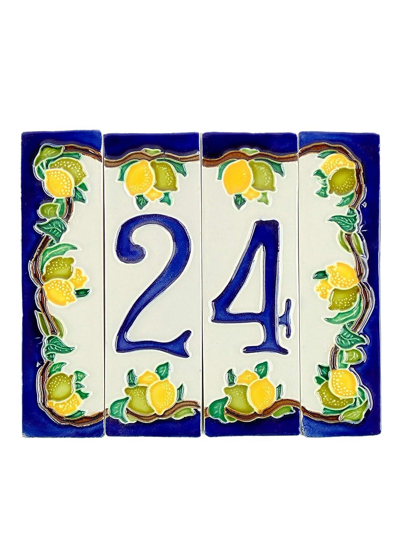 Numeri civici in ceramica,numero civico ceramica con ...
