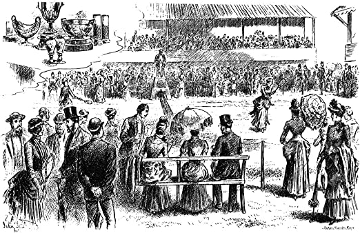 Amazon.com: Tennis Wimbledon 1884 Nmaud Watson Defeating Her Sister Lilian  Watson To Win The Inaugural Ladies Singles At The 1884 Wimbledon  Championship Contemporary English Engraving Poster Print by (18 x 24):  Posters & Prints