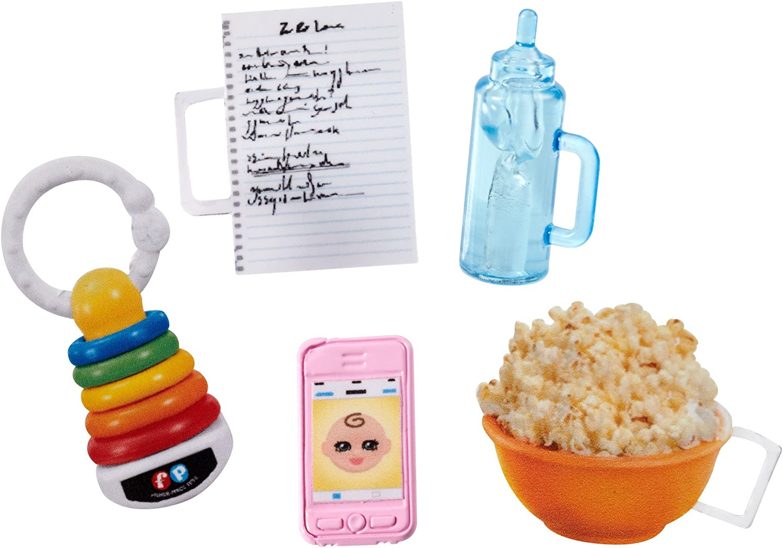 Barbie Skipper Babysitter Popcorn Playset   NEW FHY90