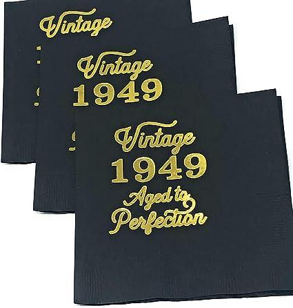 Amazon.com: Servilletas de cóctel vintage 1949 – Juego de ...