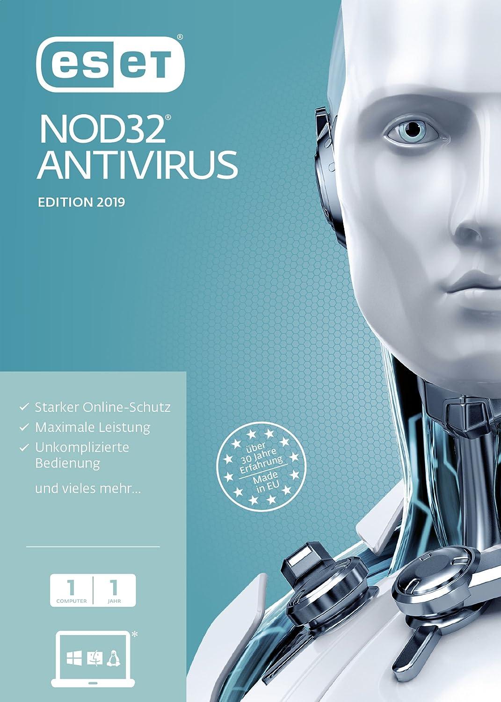 ESET NOD32 Antivirus 2019 Edition 1 User (FFP). Für Windows Vista/7/8/10/MAC/Linux