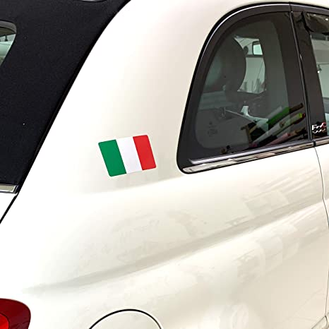 Printattack P066 Italien Flagge 2er Set Dina4 Mit Verschiedenen Motiven Italien Karte Universal Aufkleber Fahne Auto Motorrad Caravan Wohnmobil Roller Tricolore Tricolore Auto