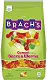 Brach's Gummy Bear and Worm Mix Candy,  Apple/Cherry/Pineapple/Lemon/Orange , 3 Pound
