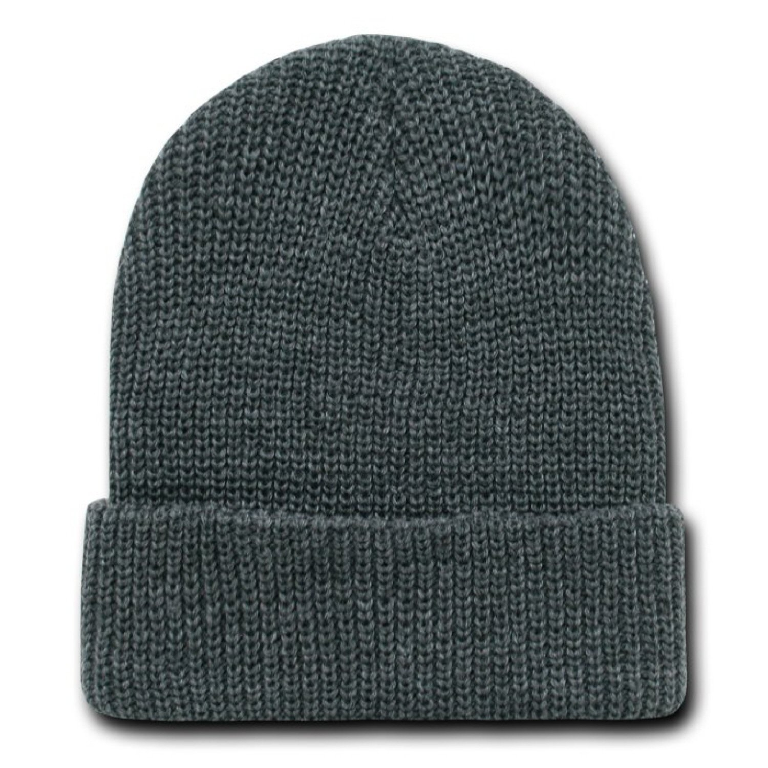 6e5856b1a0c CHARCOAL GREY LONG WATCH CAP BEANIE SKI CAP CAPS HAT HATS CUFFED at Amazon  Men s Clothing store  Skull Caps