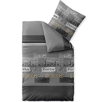 Celinatex Bettwäsche 2tlg 155x200 Baumwolle Set Kopfkissen Bettbezug