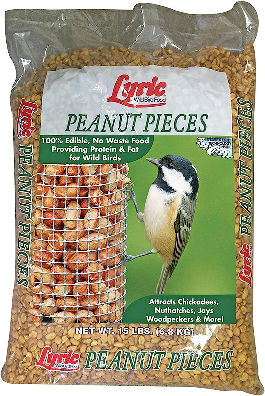 Lyric 2647463 Peanut Pieces Wild Bird Food, 15 lb