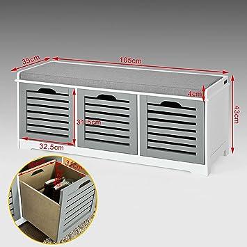 Amazon.com: Haotian FSR23-HG, Banca de almacenamiento con 3 ...
