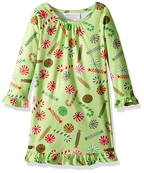 3cb78be4a0 Amazon.com  Peas   Carrots Girls  Toddler Holiday Soft Knit Flannel  Nightgown  Clothing