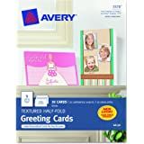 Avery Textured Half-Fold Greeting Cards for Inkjet Printers, Uncoated, 5.5 x 8.5 Inches