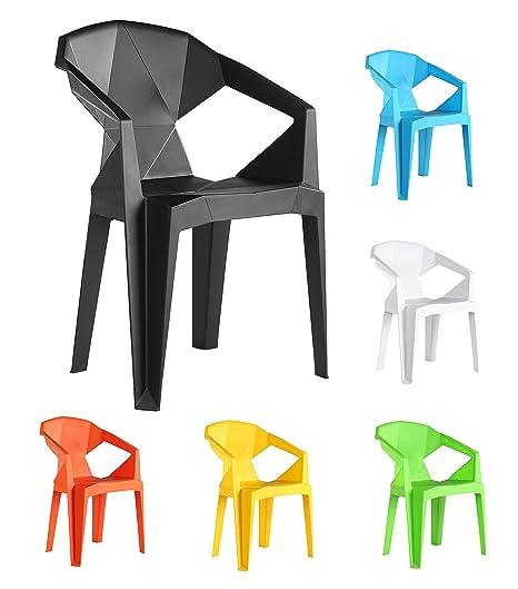 Sedie Di Plastica Per Esterno.4 X Sedie Di Plastica Verona Sedie Moderne Resistenti Da