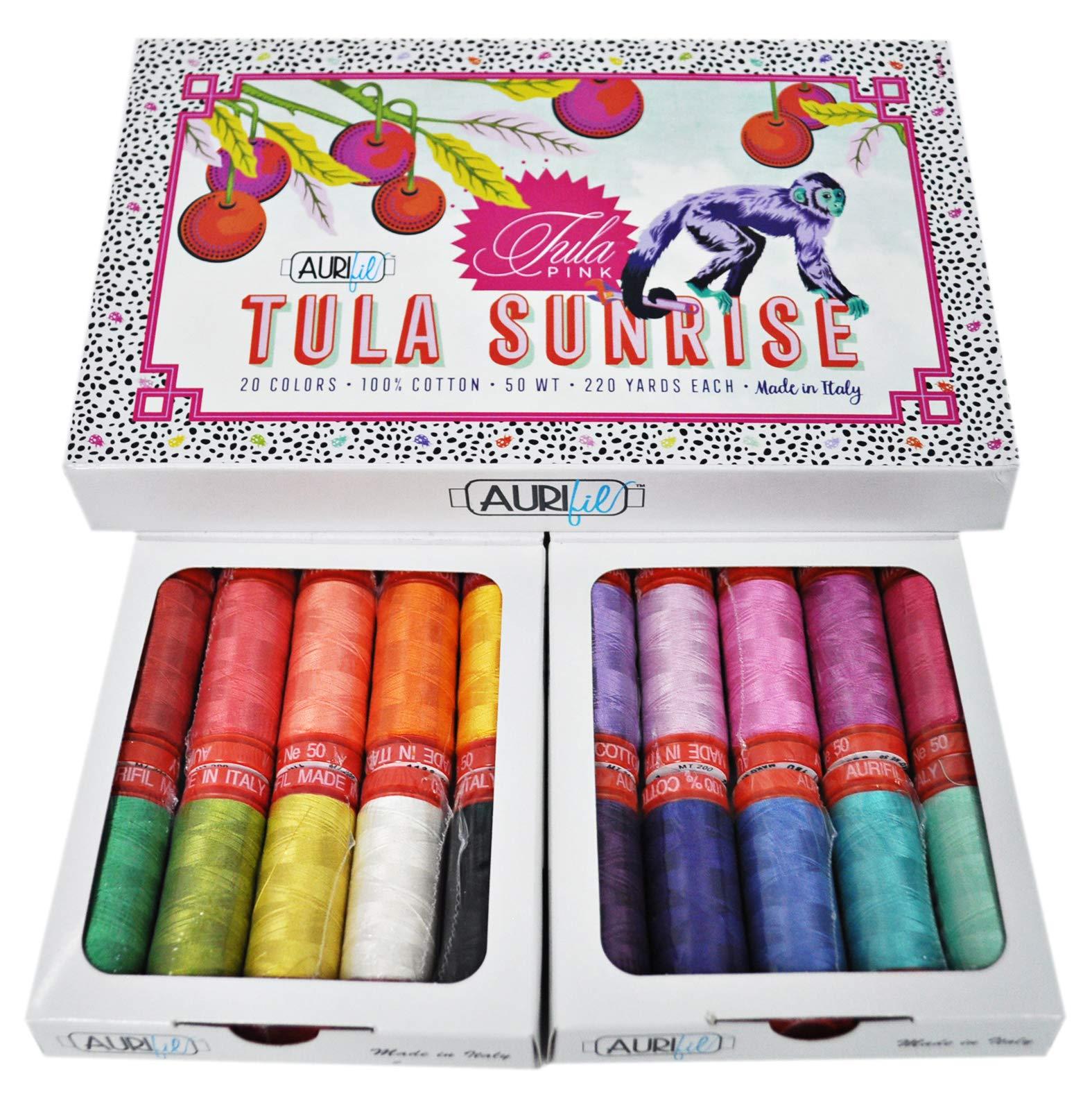 Tula Pink Tula Sunrise Aurifil Thread Kit 20 Small Spools 50 Weight TP50SC20 by Aurifil