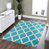 "Silk Road Concepts Collection Contemporary Rugs, 5' x 6'6"", Blue"