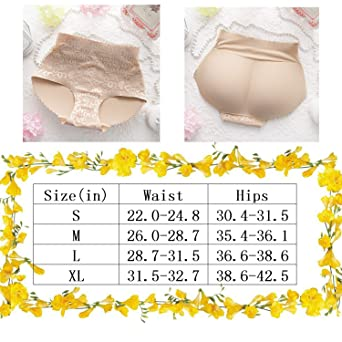 Women's Padded Seamless Butt Hip Enhancer Panties Shorts Seamless Underwear
