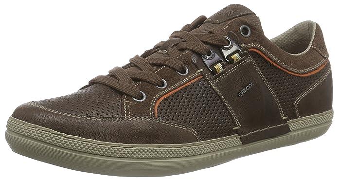 Geox U Box B, Sneakers Basses Homme - Marron - Marron foncé (C6006), 44
