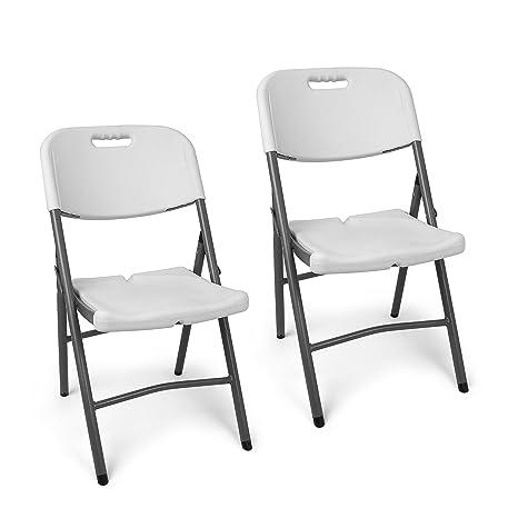 Set Sedie Da Giardino.Park Alley Pa 4970 Set Sedie Da Giardino Bianco 24 X 48 X 87 Cm