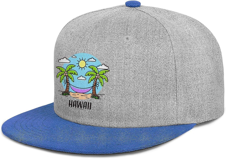 Mens Womens Baseball Hats Summer Vacation in Hawaii Snapback One Size Cap