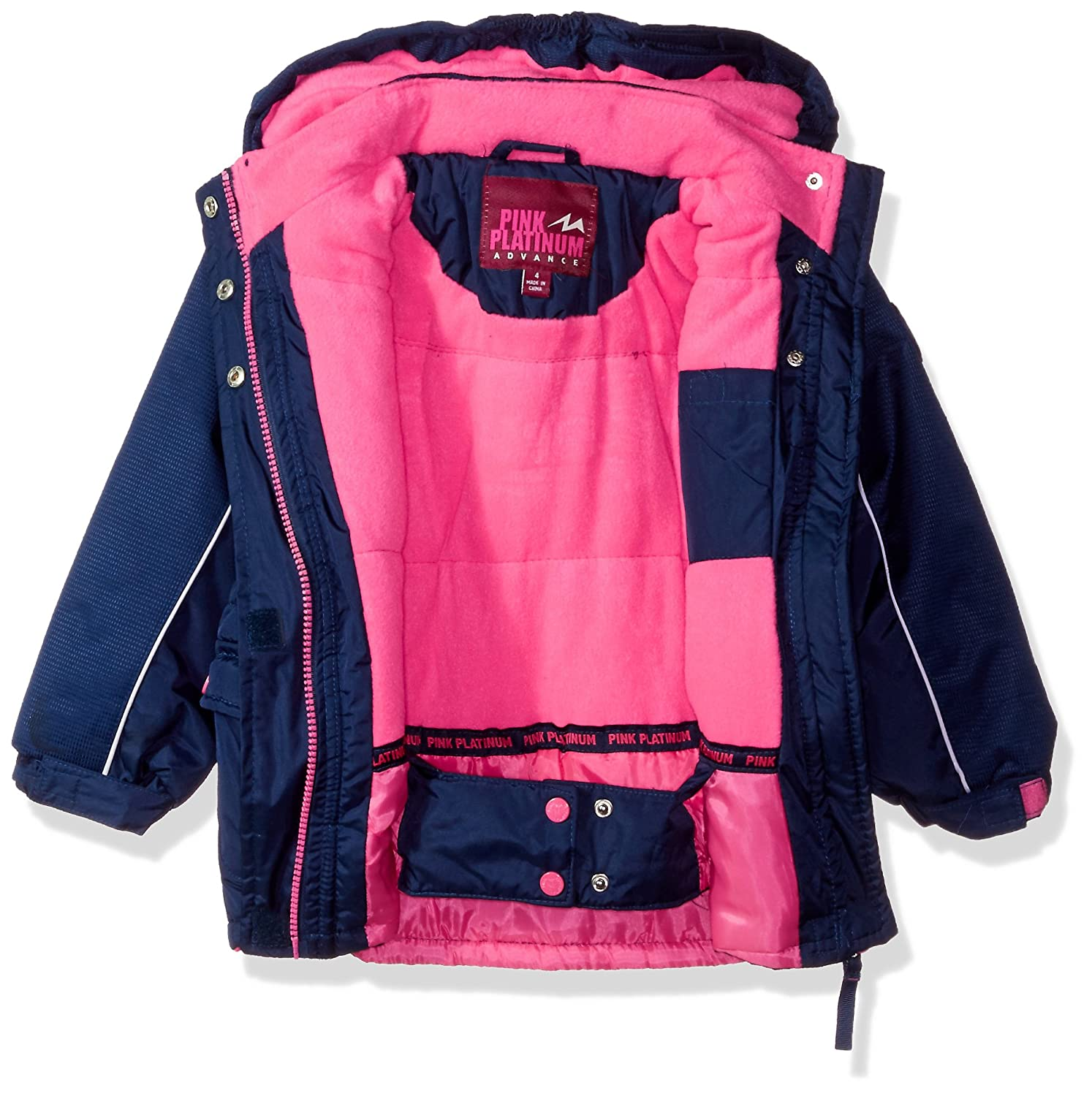 quilted snowsuit jacket com platinum ip little suit snowboard pink girls bib walmart ski