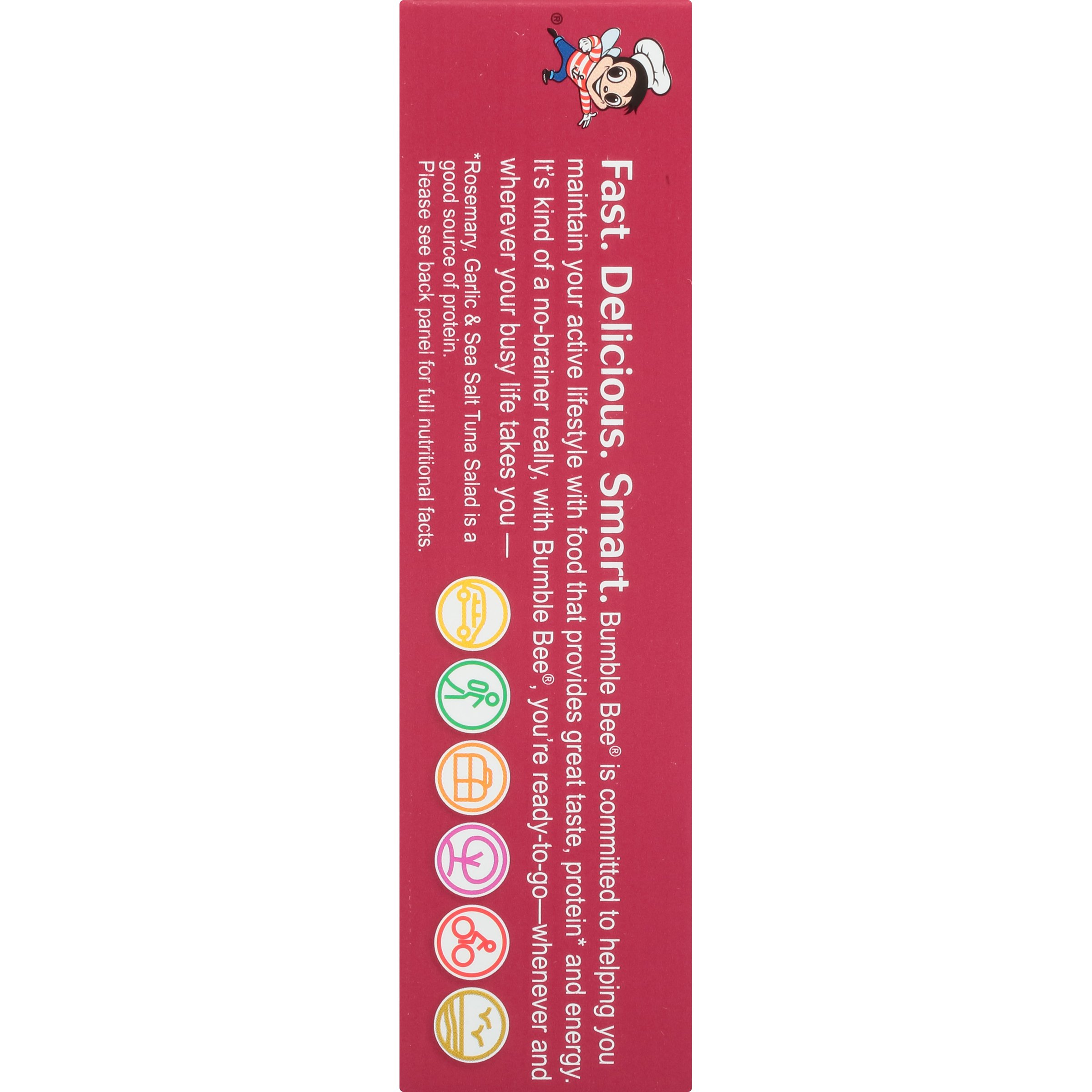 Bumble Bee Snack On The Run Crackers Kit, Rosemary, Garlic, & Sea Salt, 3.35 Ounce (Pack of 12)