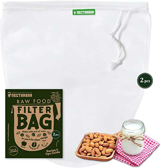 34 opinioni per SACCHETTO PER LATTE VEGETALE (2 filtri)- NECTARBAR (Eco) RAW FOOD FILTER BAG per