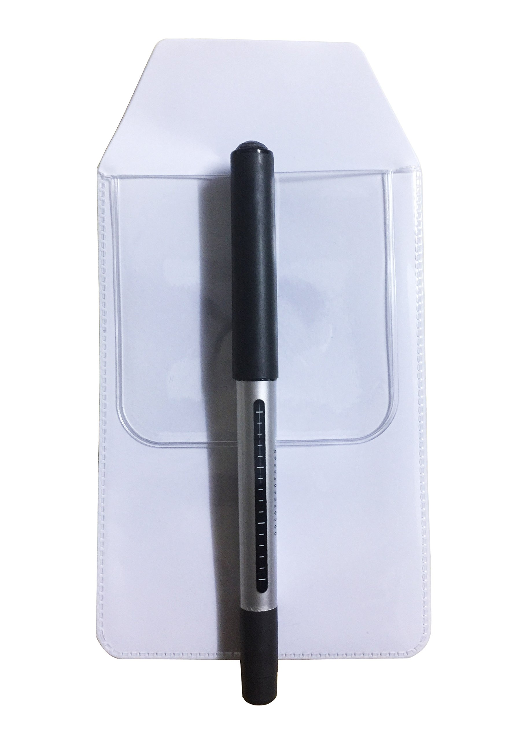 Richohome Pocket Protector for Pen Leaks, Pack of 20