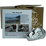16th Anniversary You Are My Rock Gift Idea - Solid Metal Heavy Polished Rock Gift for 16 Year Anniversary