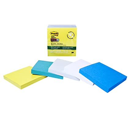 amazon com post it super sticky notes 3 x 3 inches assorted