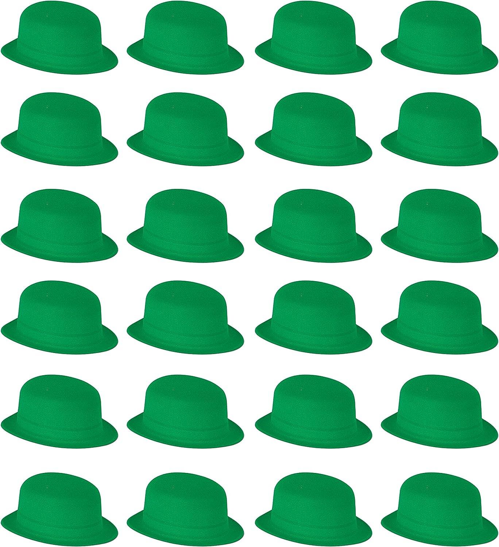 Beistle 33999 24-Pack clásicos de Terciopelo Gorro de Fiesta, Color Verde: Amazon.es: Hogar