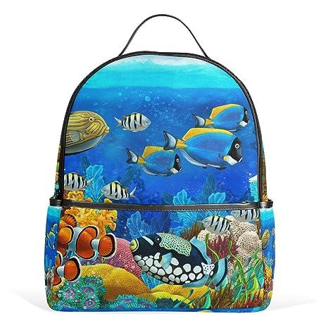 COOSUN El mundo submarino de peces Animales mochilas escolares mochilas para las muchachas de los niños