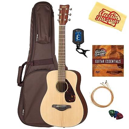 82dd0e97ec Yamaha JR2 Junior-Size 33-Inch Acoustic Guitar - Natural Bundle with Gig Bag