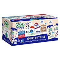 GoGo squeeZ YogurtZ, Variety Pack (Blueberry/Strawberry), 3 Ounce (20 Pouches),...
