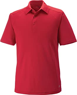Large RUST 489 North End Ladies Excursion Crosscheck Woven Polo Ash City
