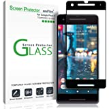 amFilm Google Pixel 2 Glass Screen Protector - Full Cover Tempered Glass Screen Protector with Dot Matrix for Google Pixel 2 (1 Pack, Black)