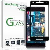 amFilm 谷歌 Pixel 2 屏幕保护玻璃,Google Pixel 2 钢化玻璃屏幕保护膜圆点矩阵 适用于 Google Pixel 2 0.3mm