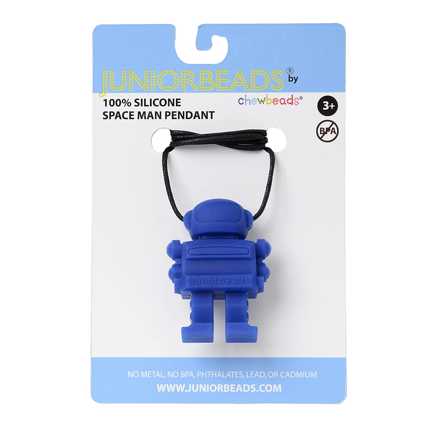 Blue CHB-4300-COB Juniorbeads by Chewbeads Spaceman Necklace 100/% Safe Silicone