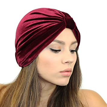 Velvet Turban Headband (Berry)