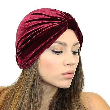 Amazon.com   Velvet Turban Headband (Berry)   Beauty 4488ad28e67