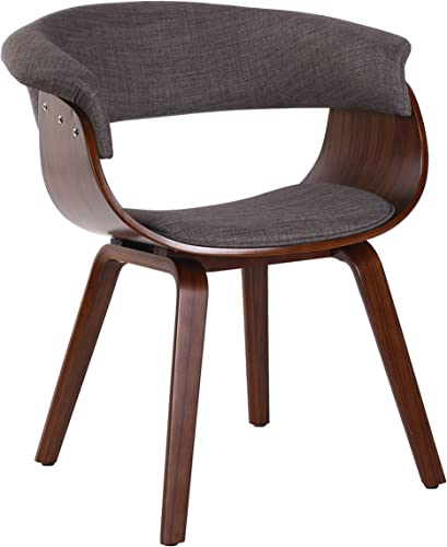 Porthos Home Living Room Chair with Fabric Upholstery and Arm Rests Chocolate Brown Fabric