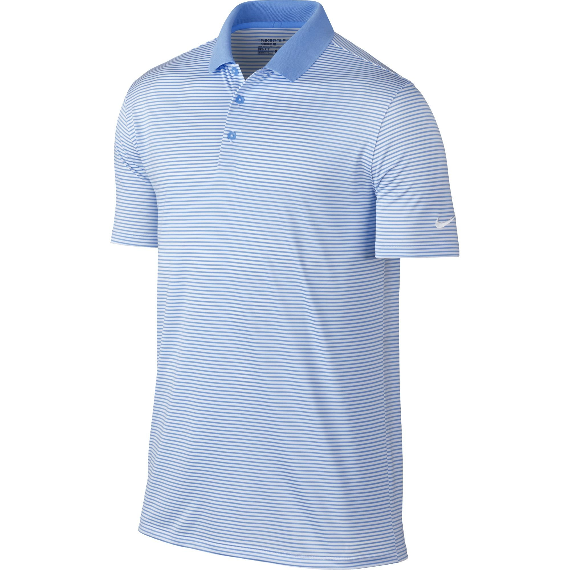 Nike Golf Victory Mini Stripe Polo (University Blue/White) (3XL)