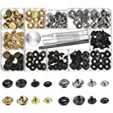 Outus Copper Snap Fasteners Press Studs No Sewing Clothing Snaps Button 39 Set with Fixing Tool