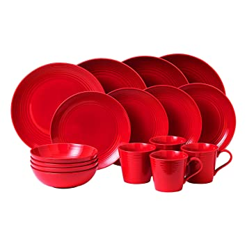 Wonderful Royal Doulton Gordon Ramsay Maze 16 Piece Dinner Set, Chilli Red