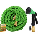 Expandable Water Hose No Kinking Flexible Lightweight Garden Nozzle with 7-Pattern Spray 75ft