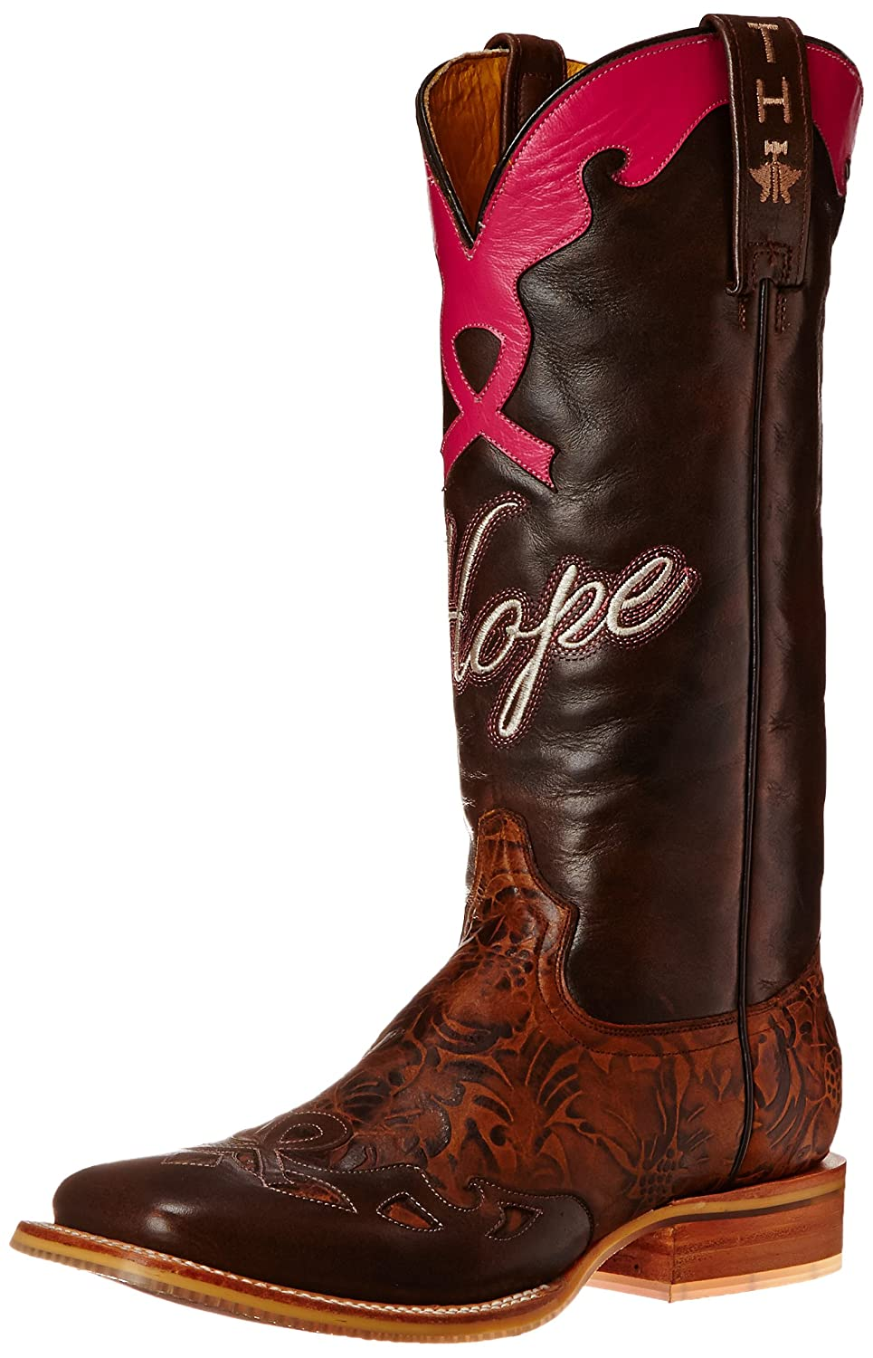Tin Haul Shoes Women's Hope Western Boot B00WHUR2YS 10.5 B(M) US|Brown/Pink