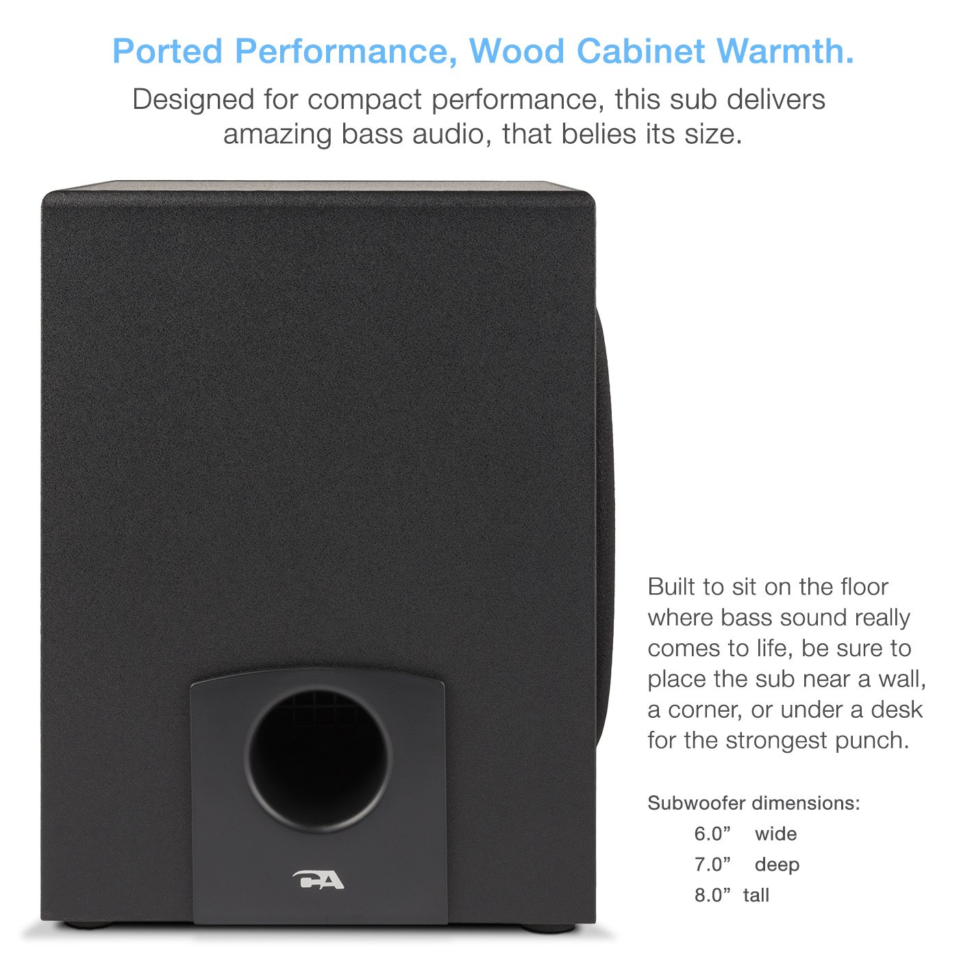 Cyber Acoustics 2.1 Subwoofer Speaker System with 18W of Power – Great for Music, Movies, Gaming, and Multimedia Computer Laptops (CA-3090) by Cyber Acoustics (Image #4)