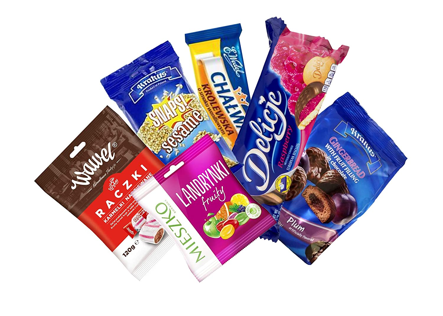 TASTE OF POLAND mini SWEET BOX Packing by Granda 2 lb TRADITIONAL POLISH SWEETS, 5 COUNT