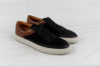 FRYE Clyde Low Mens Black Suede/Leather Lace Up Lace Up Sneakers Shoes 13