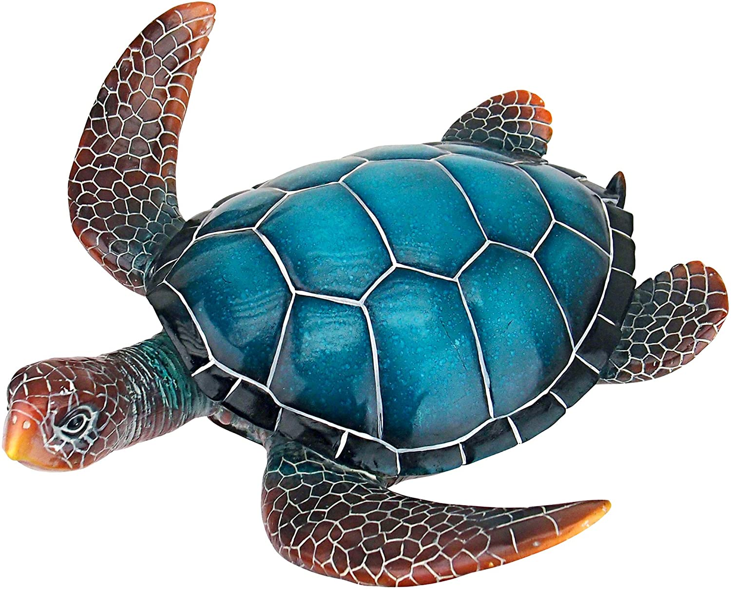 Design Toscano QL59585 Blue Sea Turtle Statue: Medium, Full Color