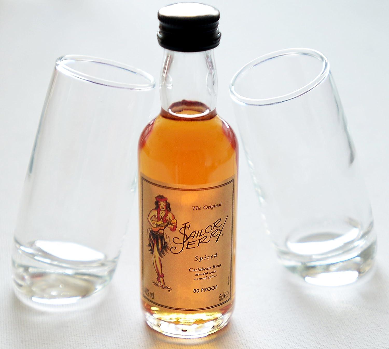 Par de Ludico inclinado vasos de chupito (60 ml) con Sailor ...